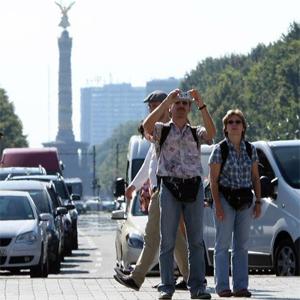 туристы в европе