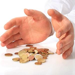 Страхование вкладов-руки и монеты .