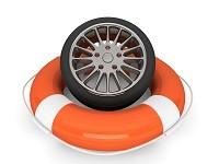 страхование автомобиля-колесо на спасательном кругу