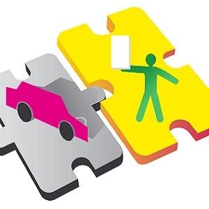 концепция страхования машины в виде головоломки