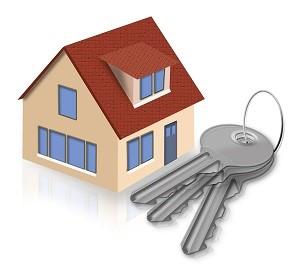 сдача нового дома-рисунок дома и связка ключей