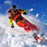 спуск горные лыжи