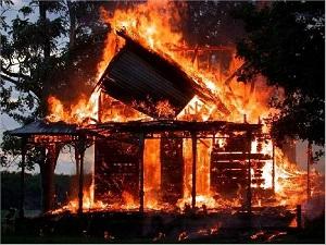 горящий дом