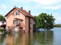 затопленный дом