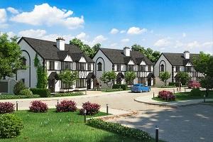 улица с загородными домами