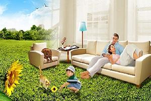 семья на диване